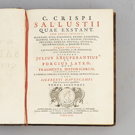 Sallust's works, 1742 (2 vol).