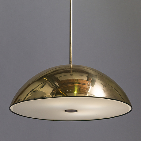 Paavo tynell, a mid-20th century pendant light for idman.