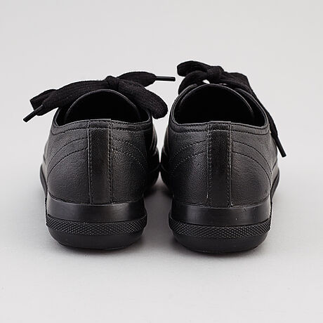 Prada, two pairs of leather sneakers, size 35,5.