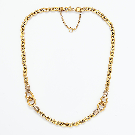 An 18k gold necklace. made in italy.