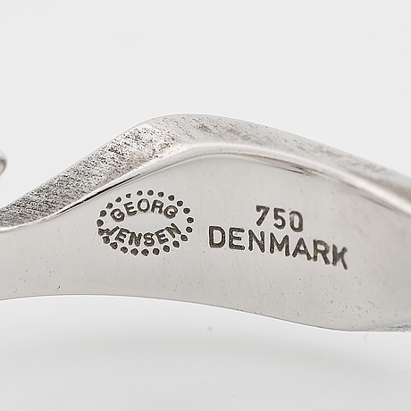 Georg jensen,  ring, 'fusion'. 18k vitguld med briljantslipade diamanter.
