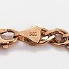 A 14k gold bracelet. marked midas.