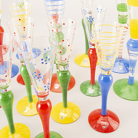 "Anne nilsson, 8+9 st glas, ""clown"", orrefors 1900-talets senare del."
