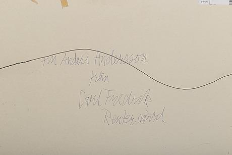 Carl fredrik reuterswÄrd, oil on paper signed.