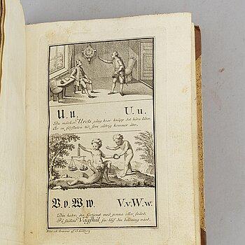 Gustaviansk graverad ABC-bok, 1780.