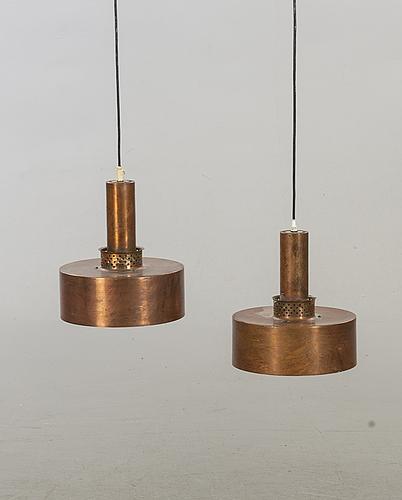 Hans-agne jakobsson, 2 copper pendants.