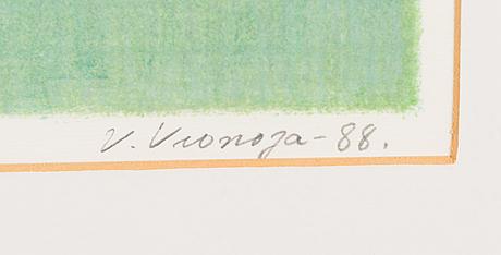 Veikko vionoja, lithograph, signed and dated -88.