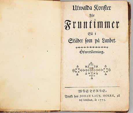 Undervisning & bagateller för folket, fem skrifter i fyra volymer, 1765-1827 (4 vol).