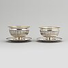 Anders lundquist, a pair of silver bowls, stockholm 1828 & 1831.