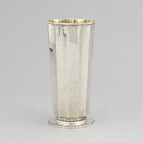 A silver borgila vase.