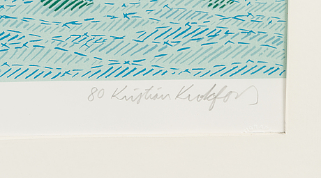 Kristian krokfors, litograph, signed and dated -80, numbered artist proof v/x.