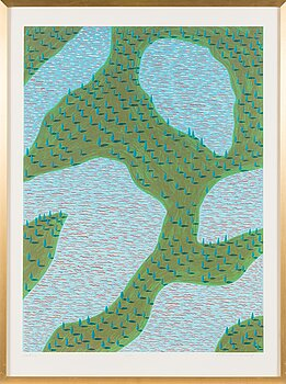 KRISTIAN KROKFORS, litograph, signed and dated -88, numbered 24/90.