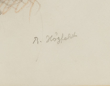 Robert hÖgfeldt, blandteknik 2 st signerade.