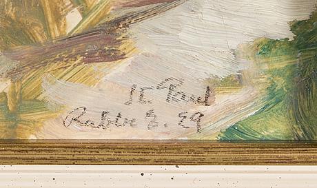 Rabbe enckell, öljy paperille signeerattu ja päivätty-29.