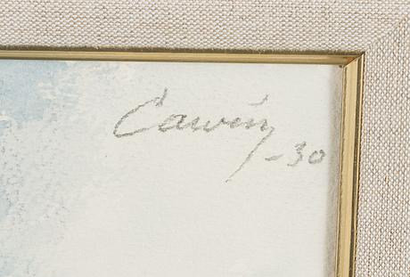Alvar cawÉn, vesiväri, signeerattu ja päivätty-30.