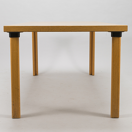Alvar aalto, a late 20th century 'h83' dining table for artek finland.