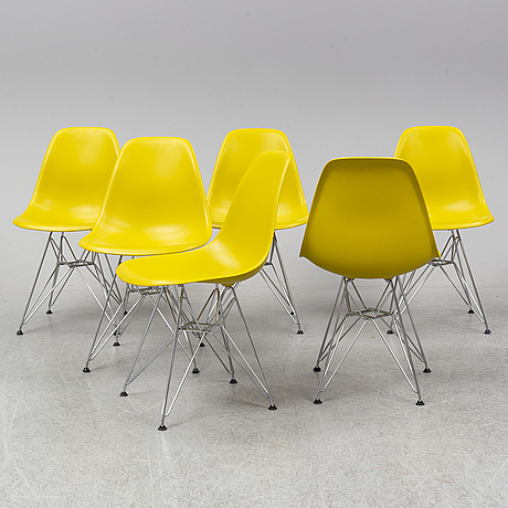 Charles and ray eames, six dsr chairs, vitra, 2011.