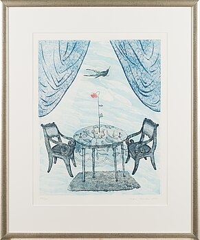 INARI KROHN, etching, signed and dated 1996, numbered 12/30.