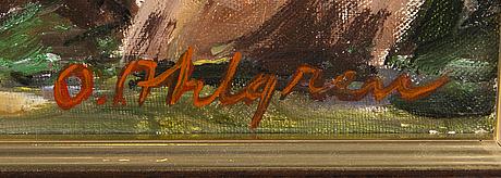 Olavi ahlgren, öljy kankaalle, signeerattu.
