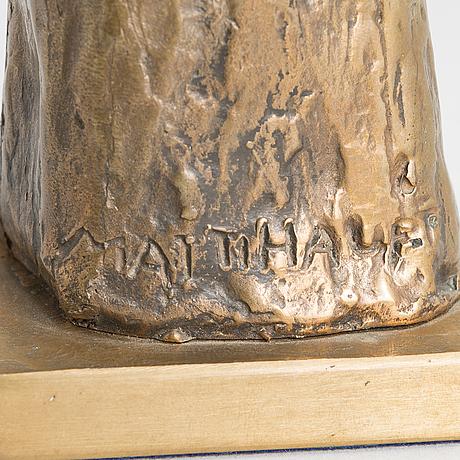 Matti haupt, bronze, signed.