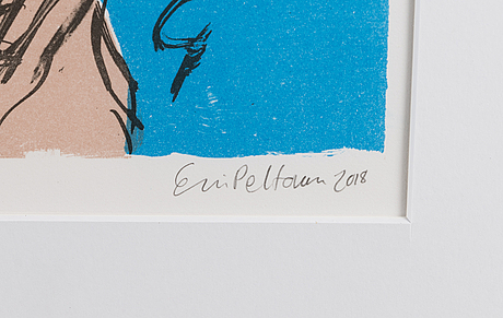 Essi peltonen, litograph, signed and dated 2018, numbered 62/90.