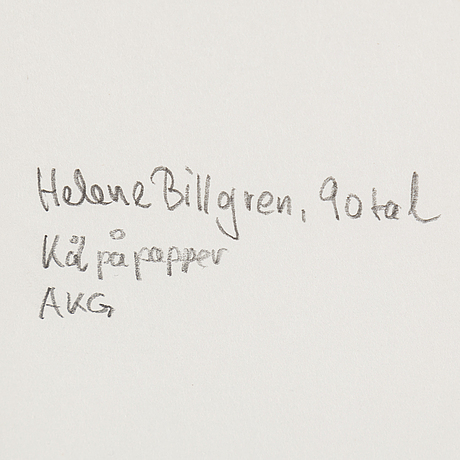 Helene billgren, drawing executed in the 1990's.
