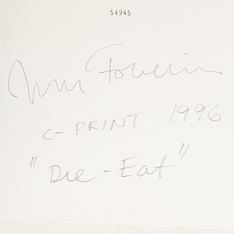 Johan fowelin, c-print signed and dated 1996 verso.