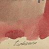 Gunnar torhamn, gouache & watercolour, signed.