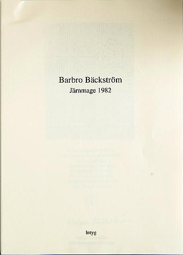 Barbro bÄckstrÖm, an iron sculpture.
