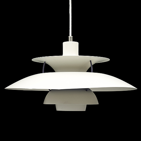 Poul henningsen, a 'ph5' ceiling light, louis poulsen, denmark.