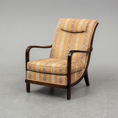 Wilhelm knoll, fåtölj, knolls moderna möbler, 1930-tal.