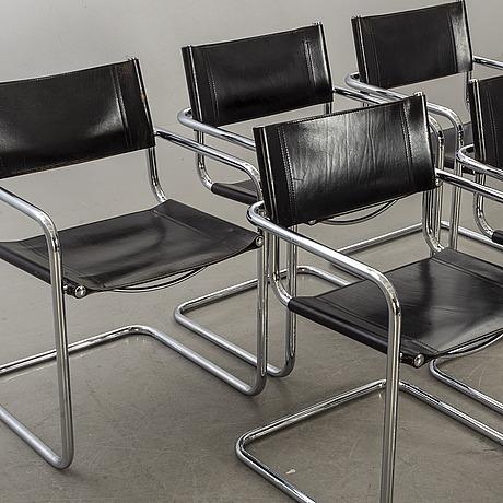 A set of six armchairs later part of the 20th century.
