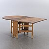 A pine wood folding table 19th century.