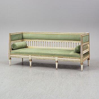 An early 19th century late Gustavian sofa.