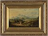 Unknown artist, oil on canvas, signed t.r jones and dated 1814.