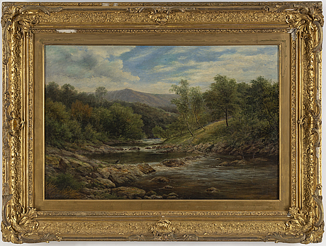 English artist, oil on canvas, signed ret 1859.