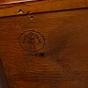 A 1940s swedish modern mahogany veneered chest of three drawers.