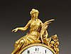 A french louis xvi mantel clock by m. f. piolaine.