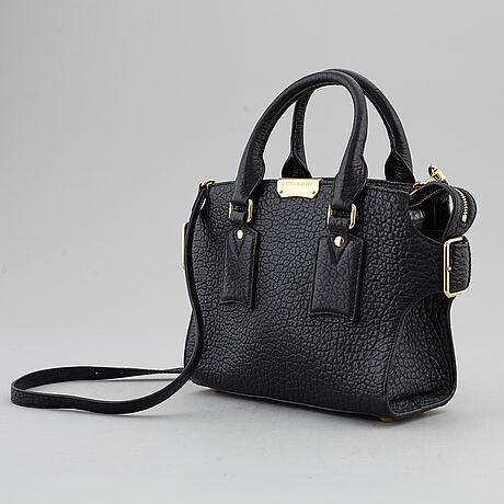 Burberry, a black leather 'gainsborough' bag.