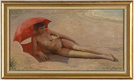 Simeon Öquist, oil on canvas, signed.