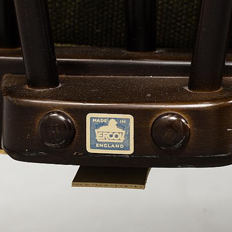 Ercol furniture, fåtöljer, ett par, 1900-talets andra hälft.