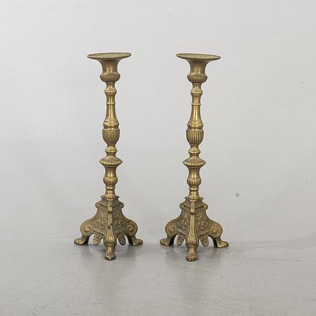 Ljusstakar, ett par, barockstil 1900-tal.