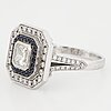 Ring, med safirer och diamanter.