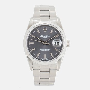 ROLEX, Oyster Perpetual Date, Chronometer, armbandsur, 34 mm.