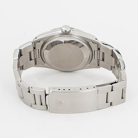 Rolex, oyster perpetual date, chronometer, armbandsur, 34 mm.