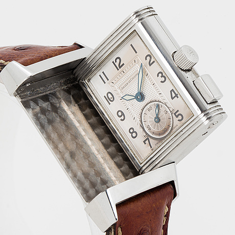 Jaeger-le coultre, reverso memory, wristwatch, 23,5 x 33,5 (38,5) mm.
