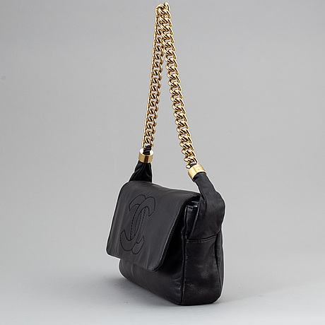 Chanel, a black leather bag, 2008-2009.