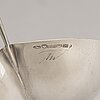 Tapio wirkkala, a leaf shaped silver bowl, marked tw, hämeenlinna, finland 1958.