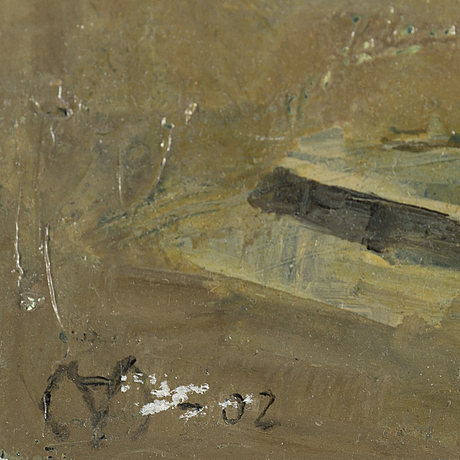 Mats Åkerman, oil on panel, signed and dated -02.