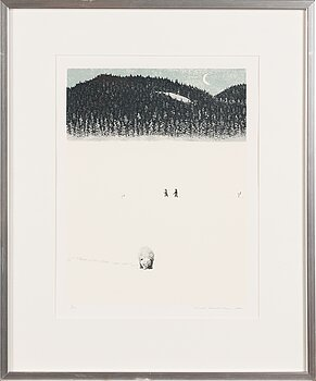 VÄINÖ ROUVINEN, etching, signed and dater 1991, numbered 2/150.
